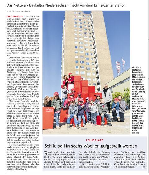 Leine-Nachrichten v. 21.09.2011