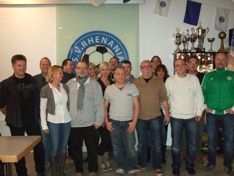 Gruppenfoto des neuen Vorstandes, der nun die Geschicke der Jugend leitet.