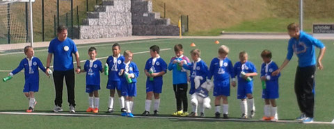 Die Kinder der U9 nach einem sehenswerten Spiel gegen Buschhausen