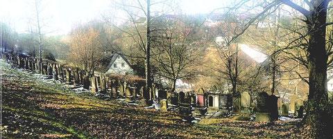Jüngster Teil des jüdischen Sammelfriedhofes in Burghaun