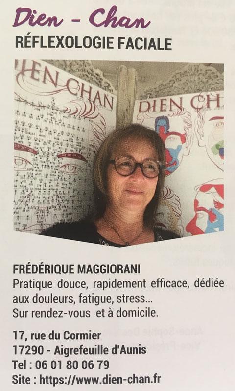 Article sur Frédérique Maggiorani et le Dien Chan du Bulletin municipal d'Aigrefeuille d'Aunis - Juillet 2019