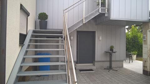 Zugang im Erdgeschoss