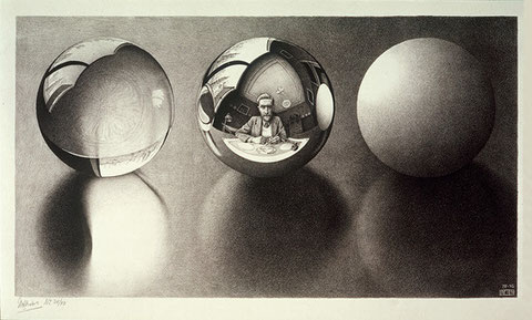 MC Escher, Three Spheres