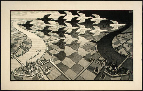 Mc Escher, Day and Night