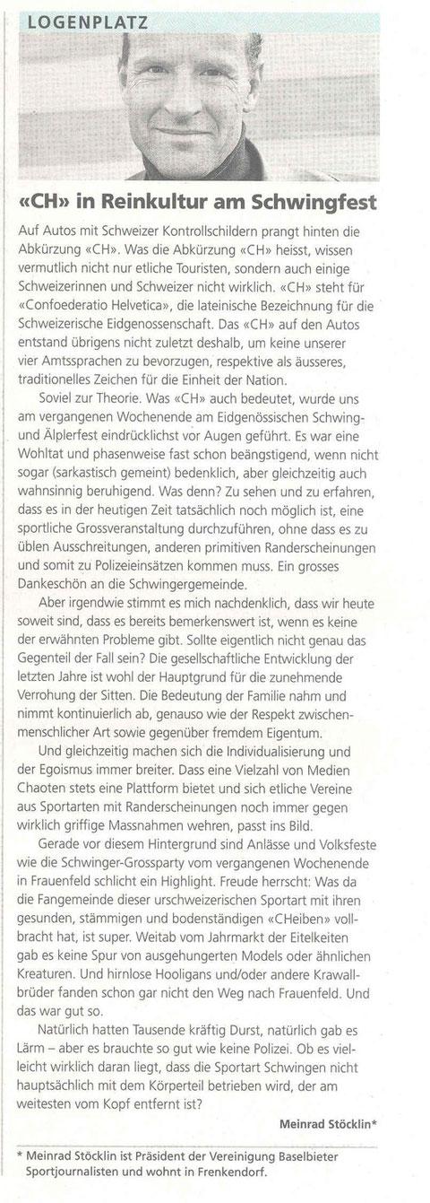 Volksstimme und Bote der Urschweiz, 26.08.2010
