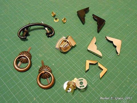 金具類_カルトナージュの材料