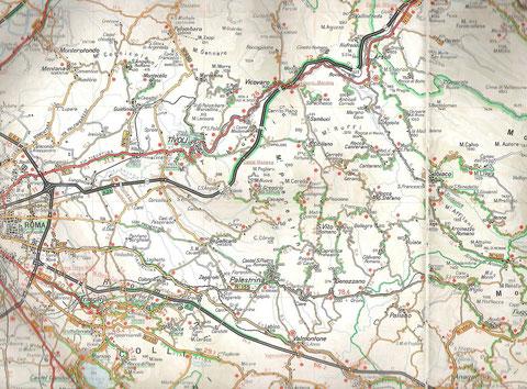 OW's Wandergebiet in der Campagna Romana