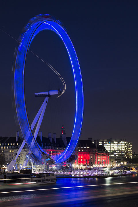 London Eye von der Hungerford Bridge
