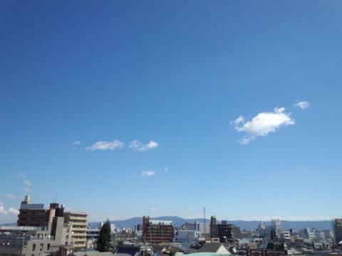 変わりやすいお天気。ご注意ください。