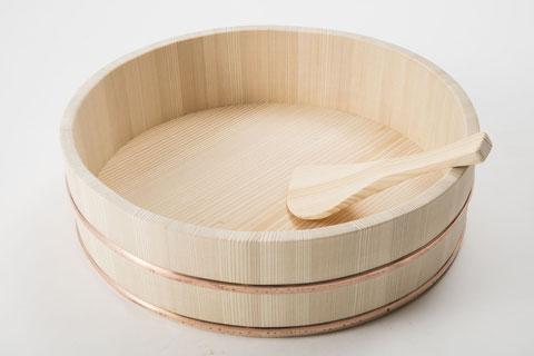 谷川木工芸の寿司桶(吉野白杉)