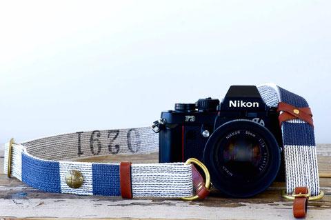 0291factory NAVY LINEカメラストラップ