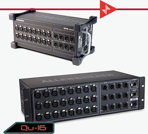 stage rack, remotes, qu16