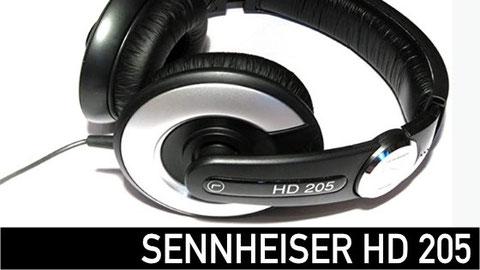 audífonos, senheiser HD 205, audífonos para estudio