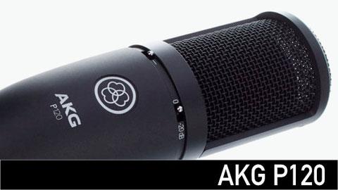 micrófono para estudio, AKG p120, grabación, shure, protools