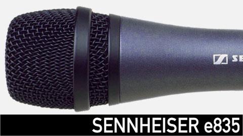sennheiser e835, micrófono para voz, shure sm58