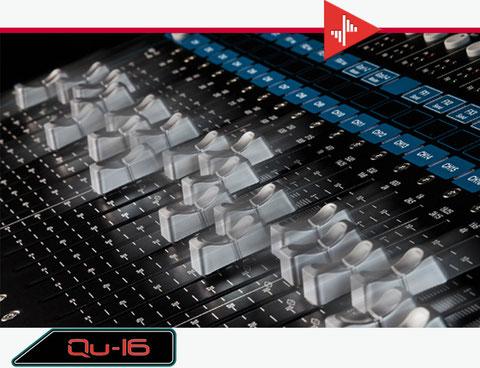 qu-16, faders motorizados, consola digital
