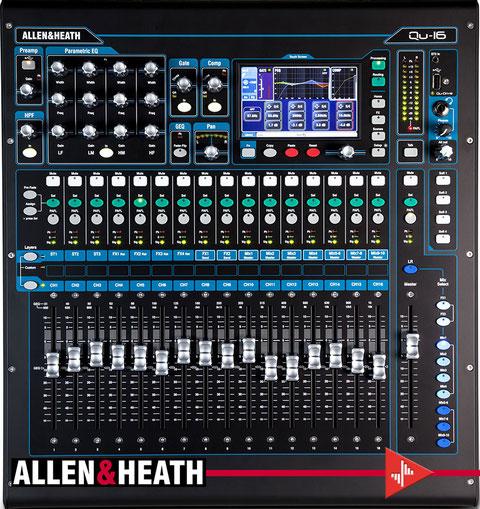 qu-16, consola digital, allen&heath