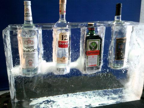 Schnapsbar für vier Flaschen