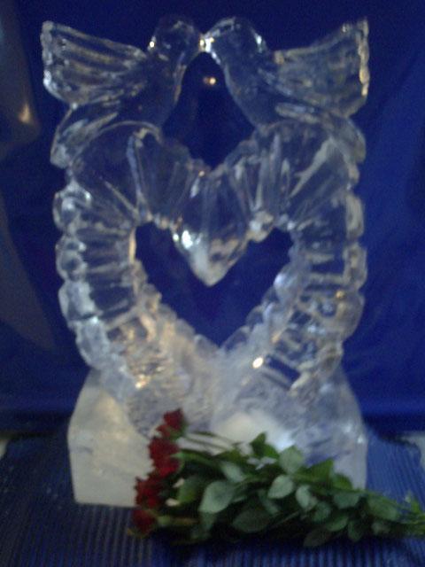 Eisskulptur Hochzeitsdekoration