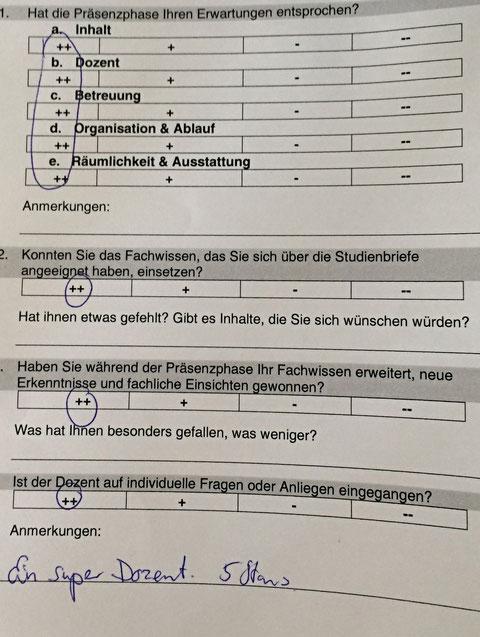 """Workshop: Marketing für den Cateringbetrieb: """"Ein Super Dozent 5 Sterne !"""" WOW-Danke lieber Herr Partrik Gehrke !!!"""