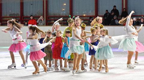 Aschaffenburg, Eissporthalle, »Stars on Ice« – Weihnachtsschaulaufen des WSV Aschaffenburg. Foto: Petra Reith.