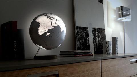 Globe Terrestre, Globe Terrestre Lumineux, Globe Terrestre Lampe, Lampe Globe, Globe Lumineux, Mapmonde, Lampe Originale, Globe Terrestre Design, Globe Design, Carte Monde Design, Globe Noir, Full Circle Reflection