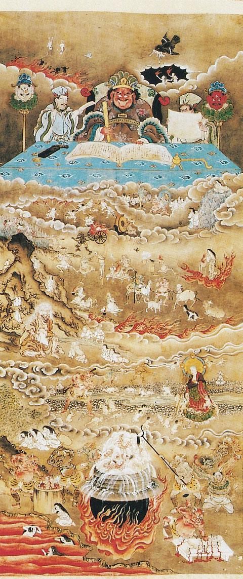 長野県 大法寺 地獄絵図