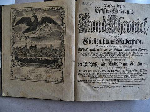 Caspar Abels Buch - Titelseiten / Bestand Historiches Stadtarchiv Halberstadt