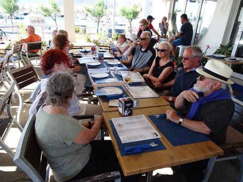 Abschluss im Hafenrestaurant