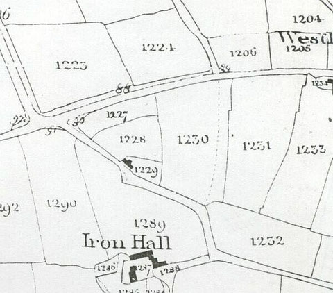 Extract from the Tithe Map, 1847