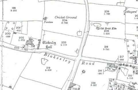 1904, note the brick kiln across Stoney Lane (also there in 1887)