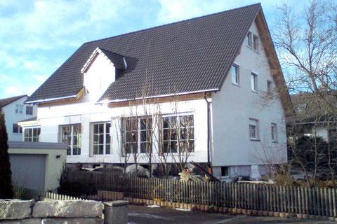 Auch Holzhäuser können verputzt werden.
