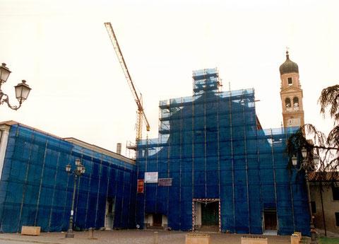 Restauro facciate e manto di copertura Chiesa San Giorgio Martire a Trecenta - Paolo e Sereno Ghiotti - Anno 2000