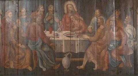 Das letzte Abendmahl - Darstellung in unserer Kirche