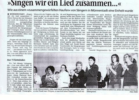 Schulung Münnerstadt - 16.2.2008