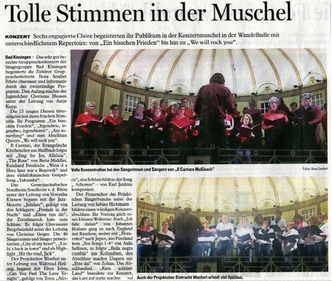 Saalezeitung - Gruppenchorkonzert - 15.10.2017