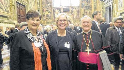 Martha Bergner - zum 85. Geburtstag von Papst Benedikt XVI. in Rom - 2012