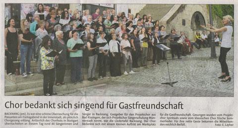 Backnanger Kreiszeitung - 27. Mai 2016
