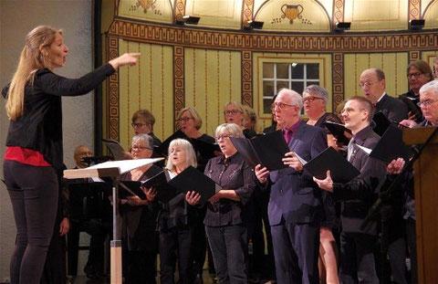Sängerschulungschor beim Gruppenchorkonzert 2019 -Leitung: Mirja Betzer