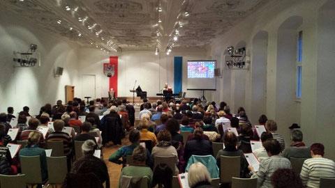 """18. Sängerschulung """"Alte Aula"""" Münnerstadt mit Ilona Seufert wieder ein voller Erfolg - Januar 2015"""