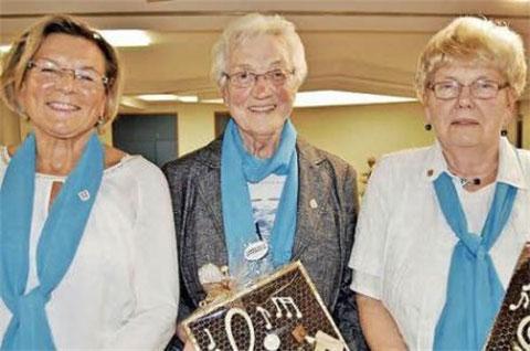 geehrt für 25 Jahre Aktives Singen - Anni Katzenberger, Rosa Stark, Helga Muth - 2015