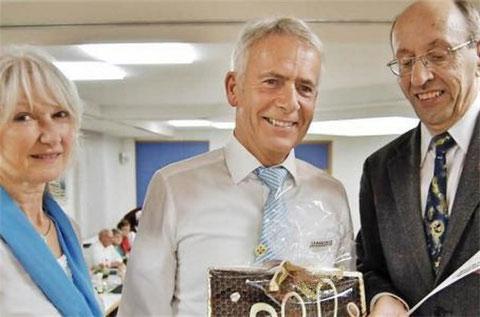 Ehrung Hubert Wehner 40 Jahre - Vors. Monika Ziegler - SG-Vorsitzender S. Gottwald - 2015