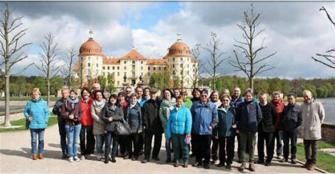 Vor Schloss Moritzburg - 2016