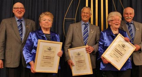 Neue Ehrenmitglieder - 2016