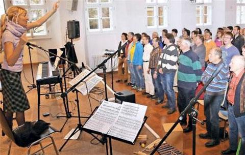 17. Chorsängerschulung Münnerstadt 2014 - musik. Leitung Ilona Seufert