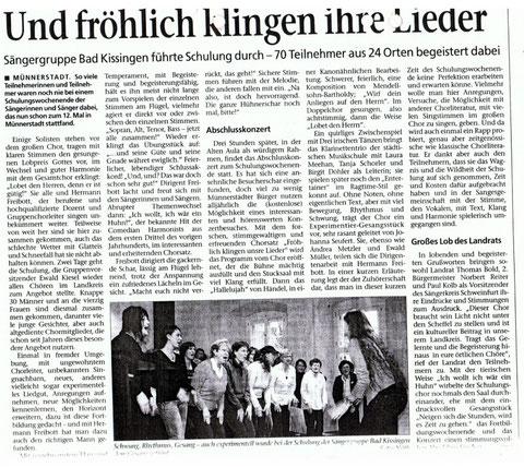 Schulung in Münnerstadt 17./18.01.09