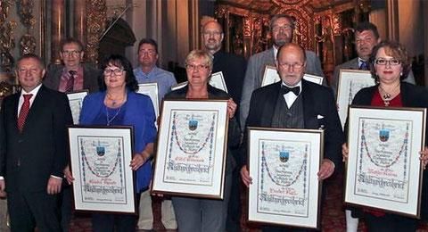 31. Verleihung der Kulturehrenbriefe - 05.10.2014