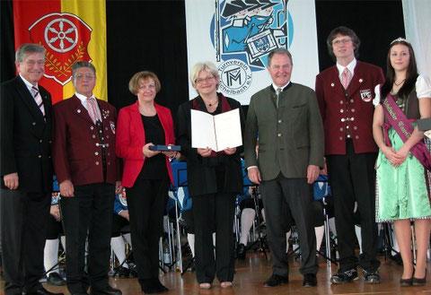 100-jähriges Jubiläum 2012 - Zelterplakette in Michelbach
