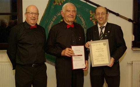 Ehrung: Wolf-Dieter Bogner - 50J CL - 2016 , links Vorsitzender Werner Meder