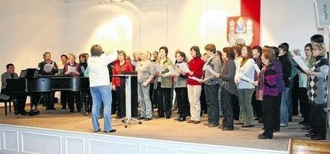 Konzert - Alte Aula - Es dirigiert Andrea Rohner - Langendorf